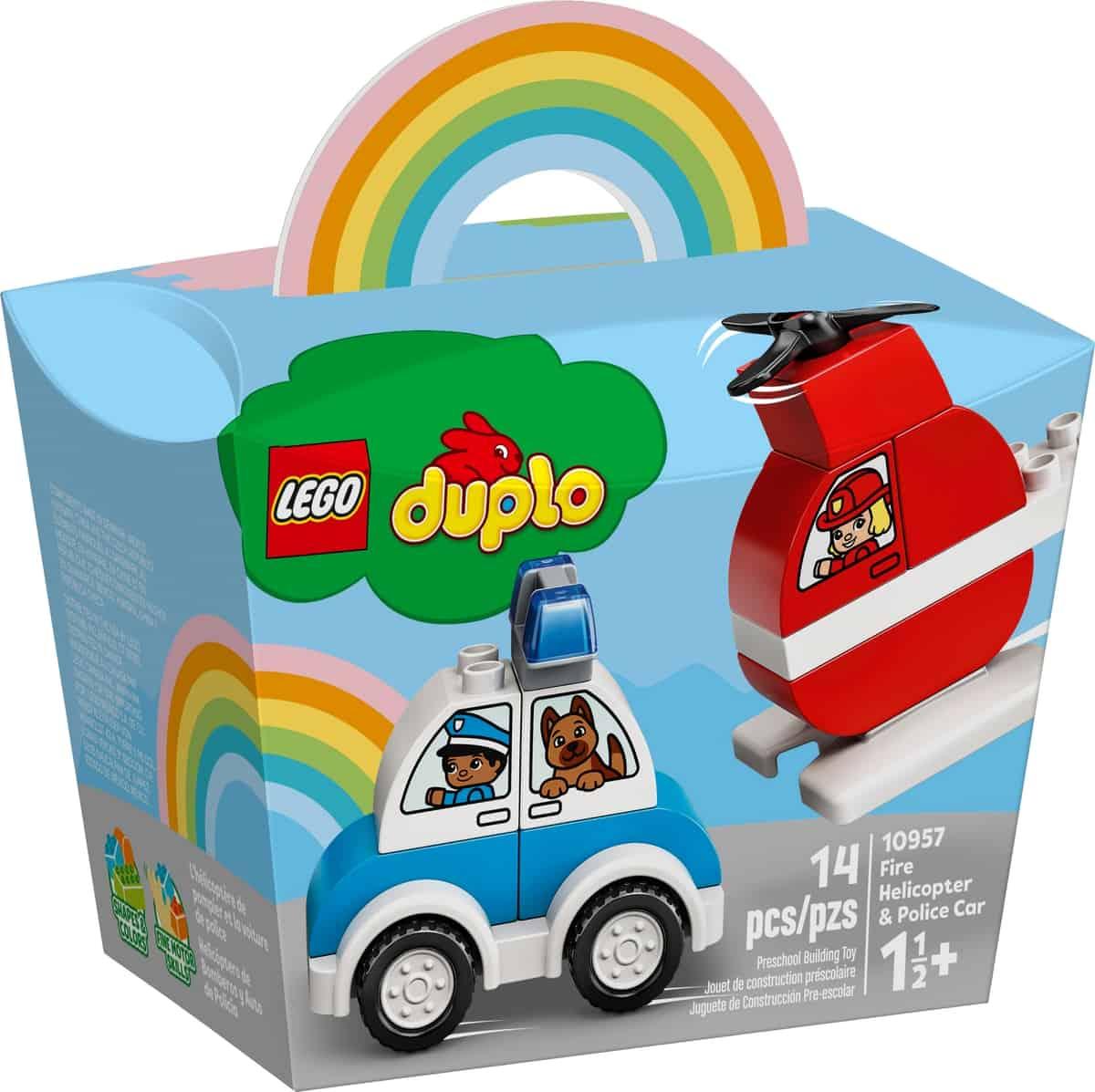lego 10957 hasicsky vrtulnik a policajne auto