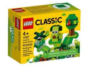 lego 11007 zelene kreativne kocky