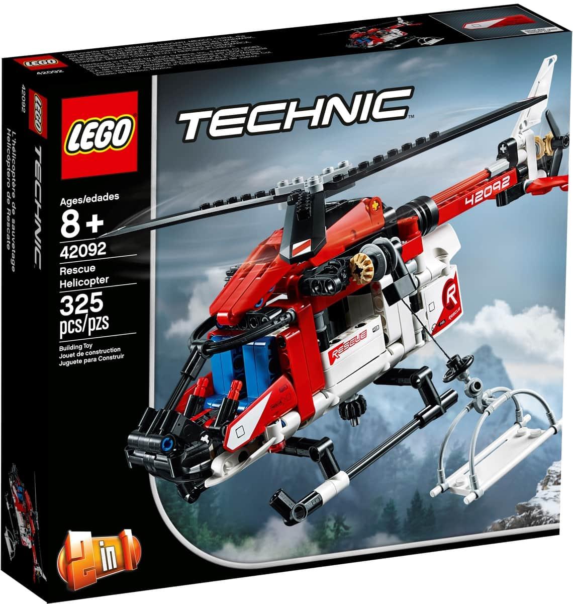 lego 42092 zachranarska helikoptera