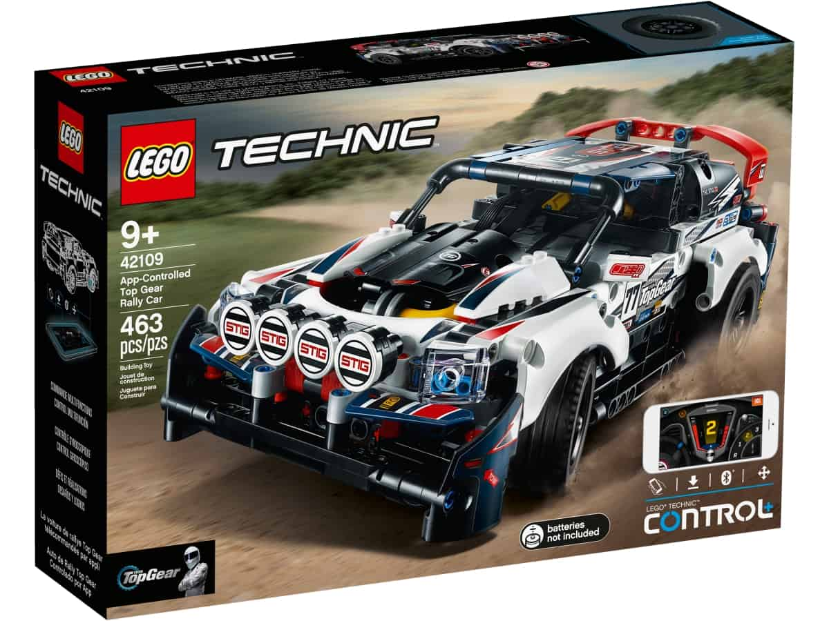 lego 42109 rc top gear pretekarske auto