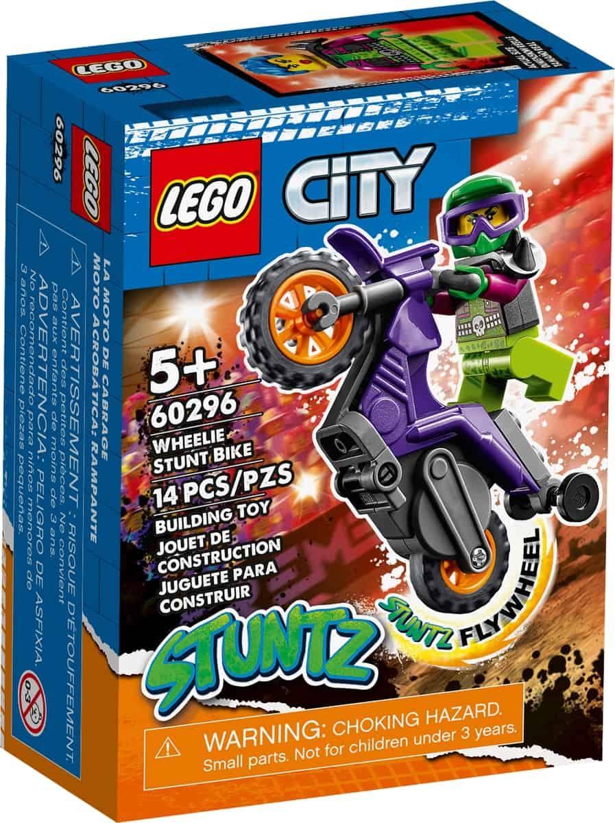 lego 60296 kaskaderska wheelie motorka