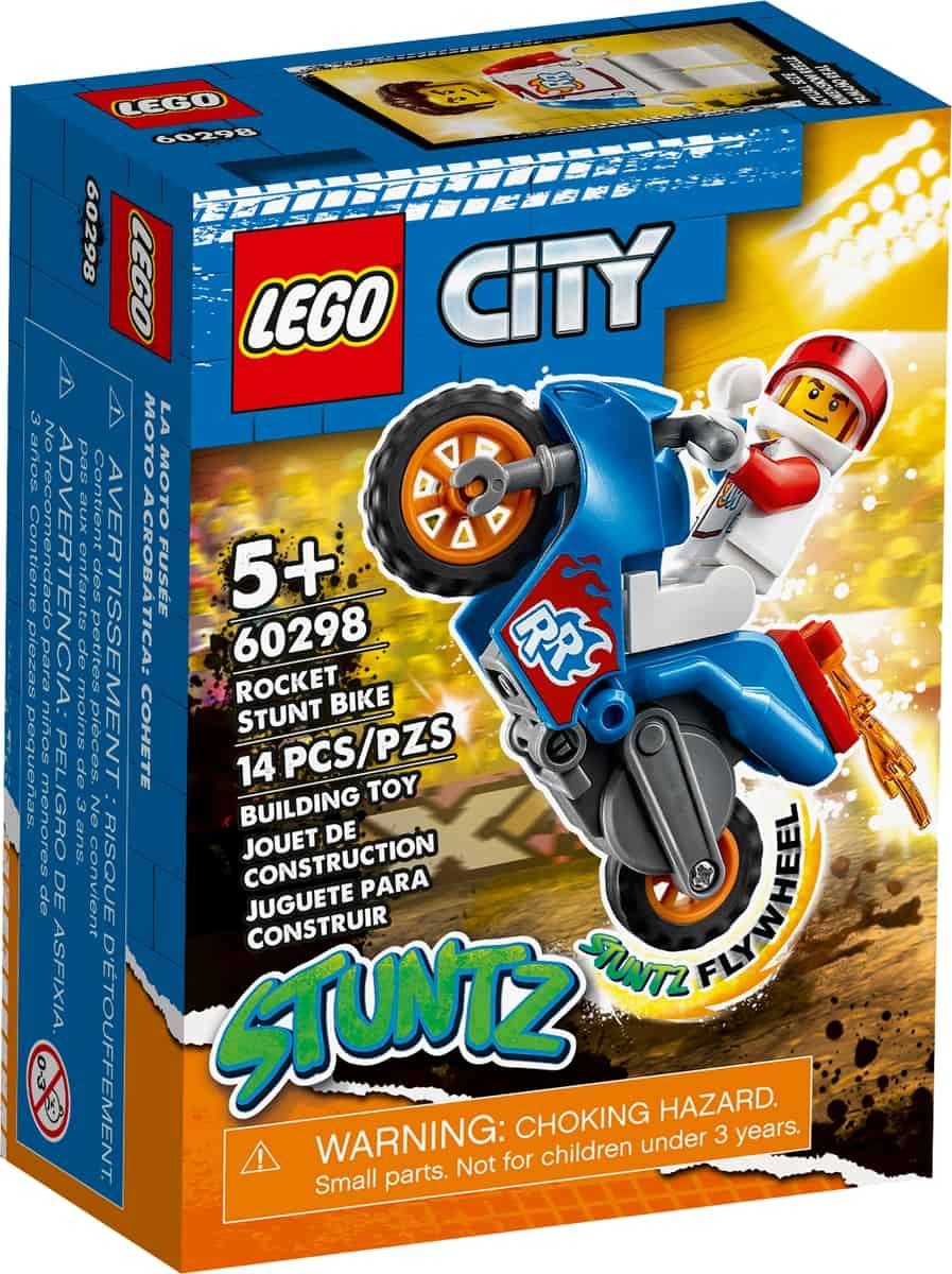 lego 60298 kaskaderska motorka s raketovym pohonom
