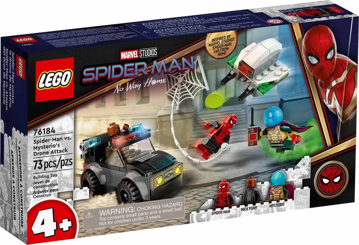 lego 76184 spider man proti mysteriovmu dronovi