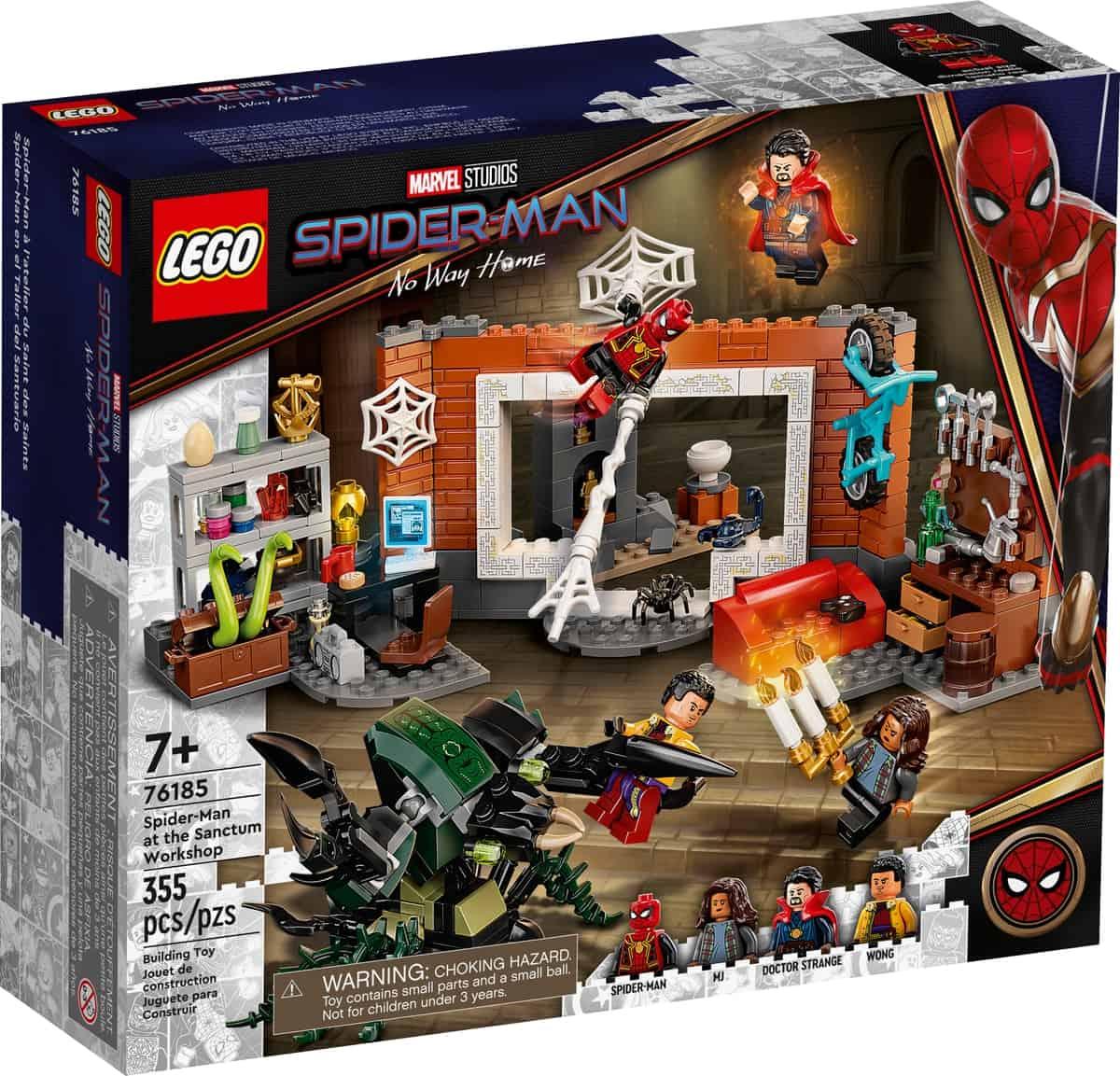 lego 76185 spider man v dielni sanctum