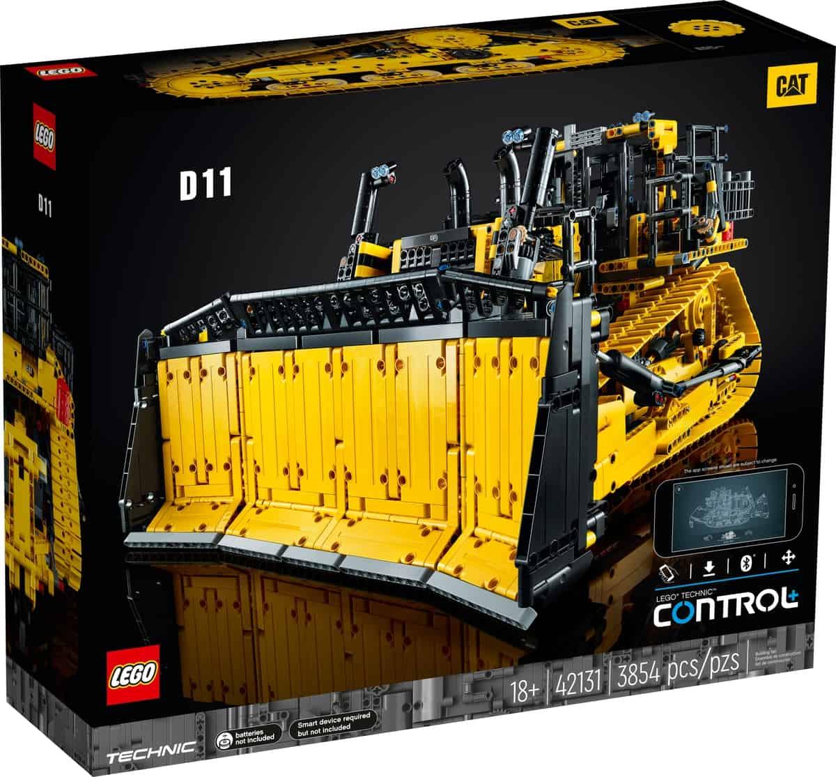 lego 42131 buldozer cat d11 ovladany aplikaciou