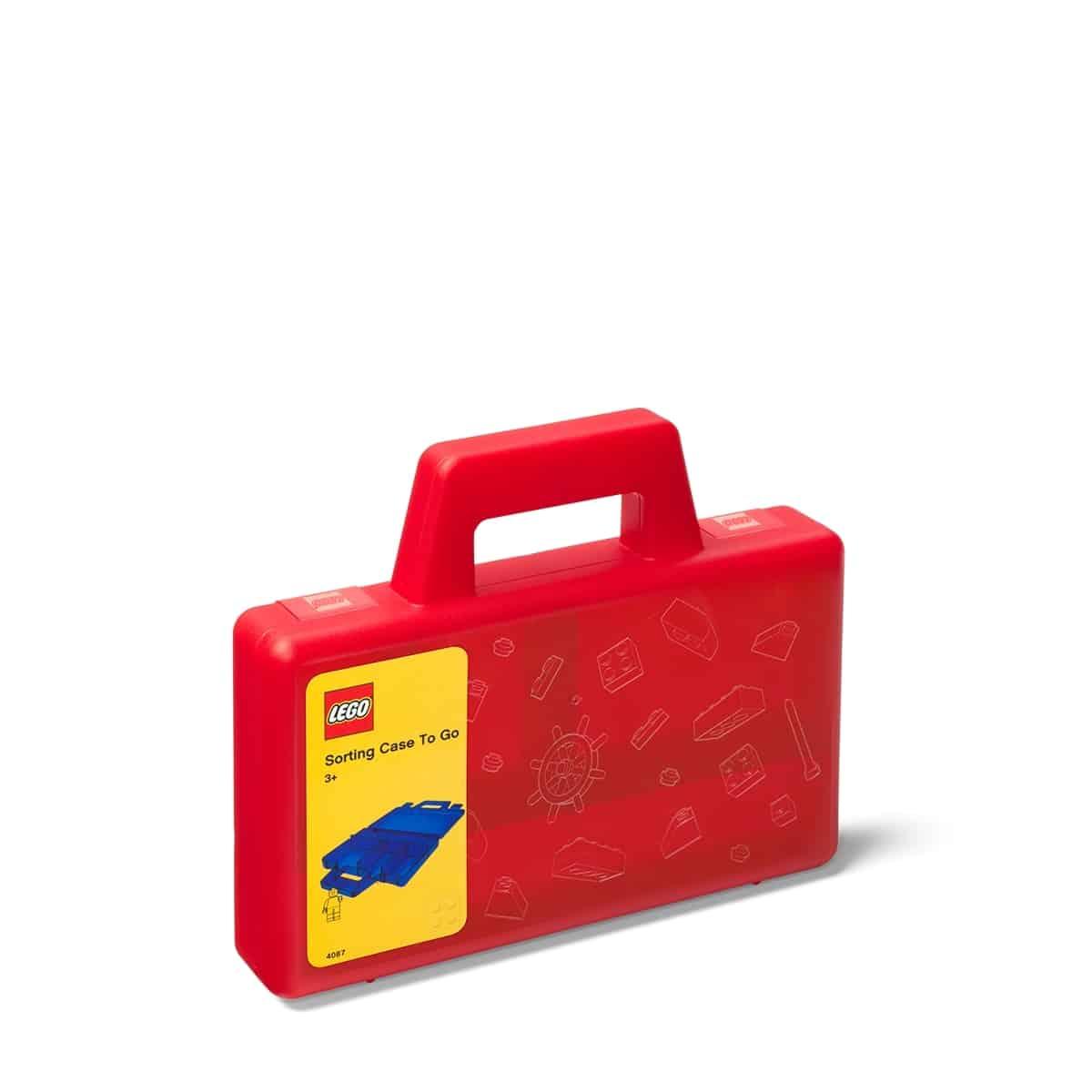 lego 5005769 priesvitny cerveny ulozny