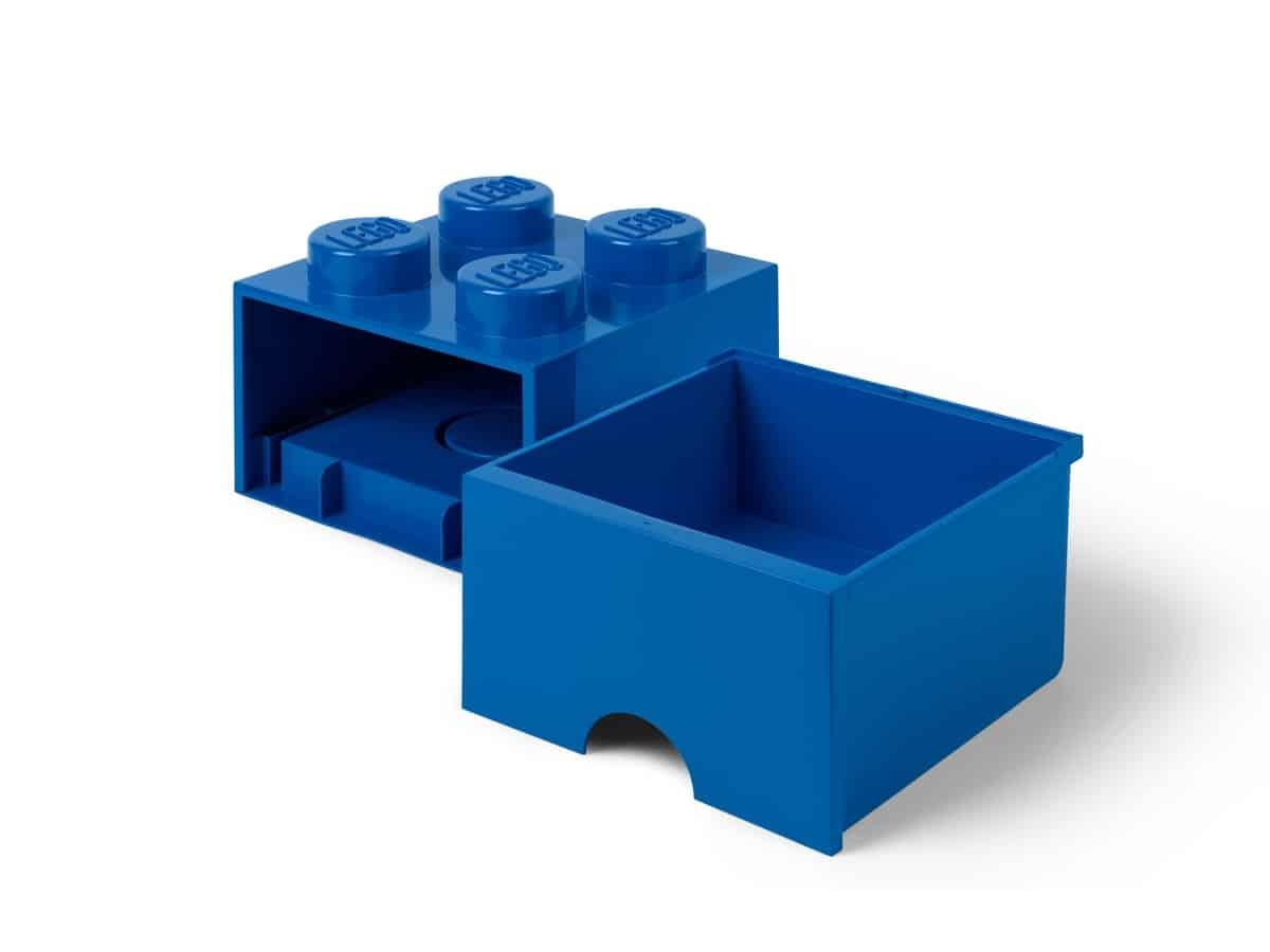 lego 5006130 ulozna modra kocka so zasuvkou a 4 vystupkami