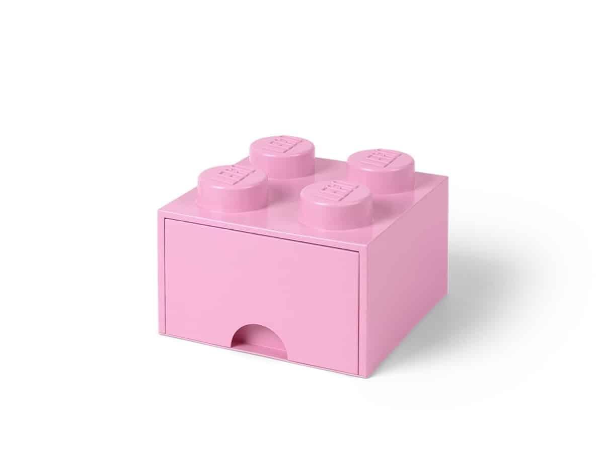 lego 5006173 zasuvka v tvare kocky so 4 vystupkami svetlofialova