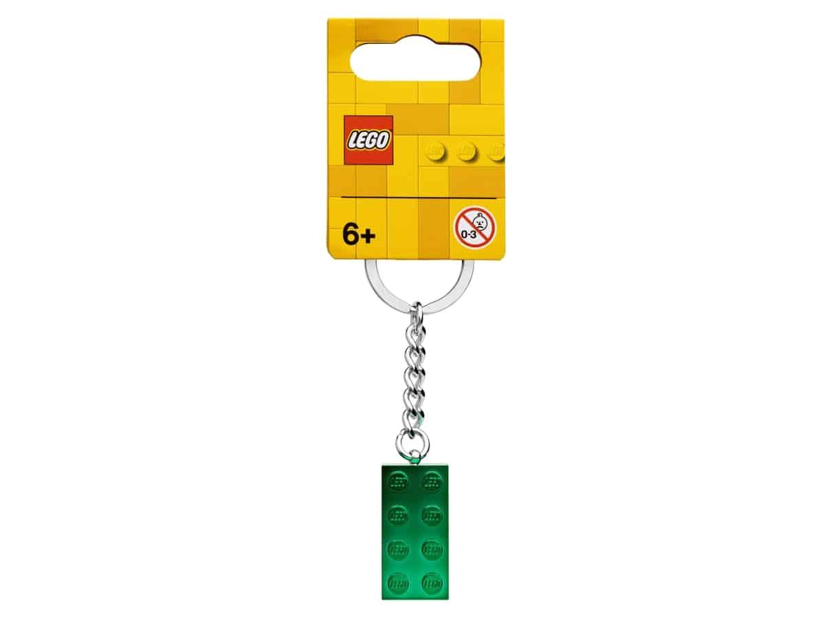 lego 854083 klucenka zelena kovova kocka